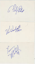 VIC WASHINGTON SIGNED 3X5 INDEX CARD 49ERS OILERS BILLS ROUGH RIDERS CFL WYOMING