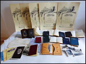 Handwritten Diaries x11 UK Cyclist Ephemera Trophies Certs Photographs Etc 1950s