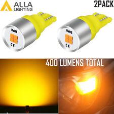 Alla Lighting LED 194 One Direction Beam Roof Marker Light Bulb Bright Yellow VS