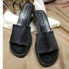 Athena Alexander Black Wedges Casual Slide Sandals Comfort Shoes
