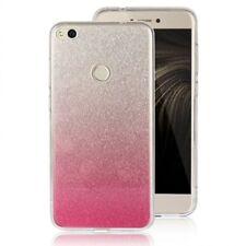 COVER Custodia Glitter GRADIENTE Morbida Silicone per Huawei P8 LITE 2017 Rosa