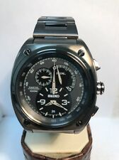 SEIKO MEN WATCH LIMITED EDITION CHRONO KINETIC RETROGRADE GUNMETAL STEEL SNL073