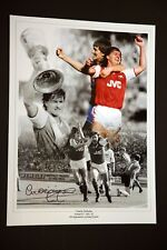 More details for charlie nicholas hand signed arsenal fc football 12x16 photograph