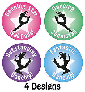 144 x Dancing Reward Stickers Clubs Schools Kids