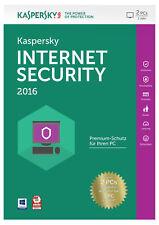 Kaspersky Internet Security 2016 - 2 PCs für 1 Jahre