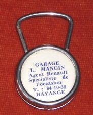 Porte-clé Keychain Garage MANGIN  RENAULT HAYANGE + ST Cristophe & Enfant jésus