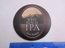 Bier Aufkleber ~ die Brewhouse West Strand Ipa ~ Santa Barbara, Kalifornien Berg