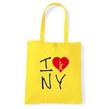 Art T-shirt, Borsa shoulder I Love NY, Giallo Shopper, Mare