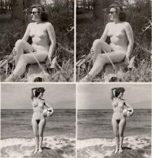 18 Akt - Stereofotos, unbeschwerte Nackte Damen im Freien,1940 Stereoviews Lot 4