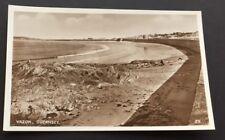 Postcard Vazon Bay Guernsey Real Photo RA Series Beach Sea Wall 1792