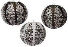 Amscan Internazionali Lanterne Damasco Nero stampati Confezione da 3