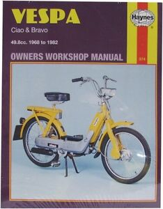 NEW Haynes Manual For Vespa Ciao,Bravo 1968- 1982