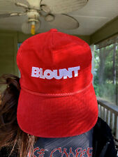Vintage Blount Chain Saw Agriculture Construction Machinery Rope Corduroy Hat