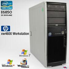 Estación de trabajo HP xw4600 ordenador PC Windows XP rs232 en paralelo e6850 Quadro fx370