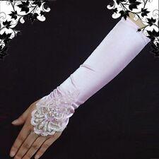 fingerlose Brauthandschuhe Handschuhe Pink 43cm Hs-bd-p