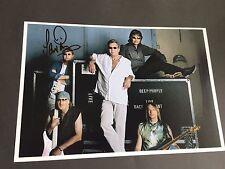 Ian Paice Deep Purple signed in-persona photo 20x30 autógrafo