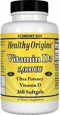 Vitamin D3 by Healthy Origins, 360 softgels 5000 IU