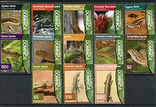 Dominica 2011 Mnh Lizards Definitives Skink Anole Gecko Iguana 13v Set Stamps