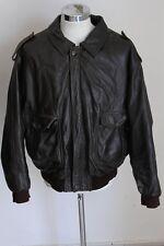 AIR FORCE giubbotto pelle leather jacket coat mantel XL E1246