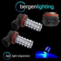 2X H8 BLUE 60 LED FRONT FOG SPOT LAMP LIGHT BULBS HIGH POWER KIT XENON FF500401