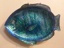 Blue Fish--Upcycled Art Glass. OOAK
