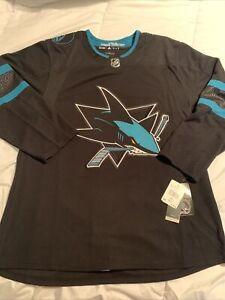 NEW Adidas NHL San Jose Sharks Alternate Authentic Jersey 52 Large $180 DW4831