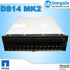NetApp DS14 MK2 AT Disk Shelf Storage Array 2U 14x Caddies 2x Controller 2x PSU