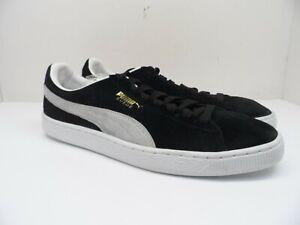 PUMA Men's Suede Classic XXI Casual Shoes Puma Black-Puma White Size 12M