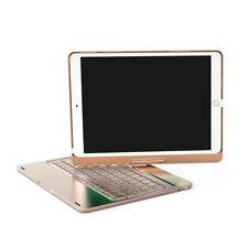 For iPad Pro 9.7/10.5 7 Colors Backlit Aluminum Bluetooth Keyboard Folio Cover