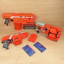 Nerf Gun Bundle Demolisher, Flipfury + Stryfe + Magazines & New Ammo