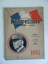 Grand Almanach du Nouvelliste et du nouveau journal 1941