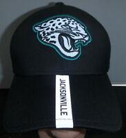 Jacksonville Jaguars NFL New Era 9Forty Black Reflective Stripe Strapback Hat