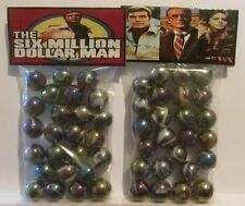 2 Bags Of The Six Million Dollar Man TV Show Promo Marbles