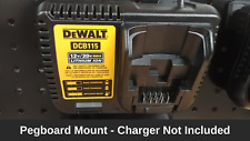 Tool Storage - Pegboard Mount For Dewalt DCB115 Battery Charger 20v or 12v Max