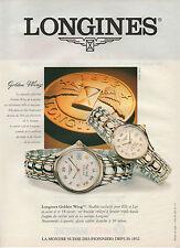 Publicité Advertising  ///   montres LONGINES  Golden Wing