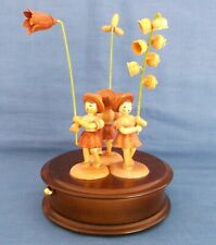 REUGE ROMANCE MUSIC BOX ANRI WOOD FIGURES WALTZ OF THE FLOWERS SWISS MADE