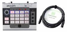 Zoom V3 Multi-Effects Vocal Processor Set 16 Gesangseffekte USB Interface Kabel