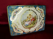 Vintage WESTON'S QUALITY BISCUITS TIN Romantic Baroque pattern. Food Advertising
