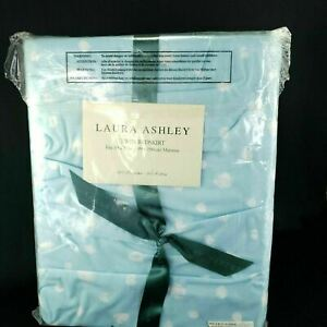 Laura Ashley Blue Dust Ruffle Twin Bed Skirt Bedskirt Ashly New in Package