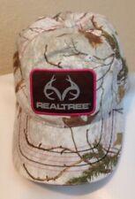 REALTREE Ladies Camo Baseball Cap White Adjustable Strap Excellent Condition