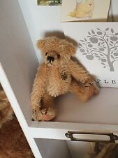 Teddy Hermann jointed collectable miniature brown teddy bears Antique Vintage