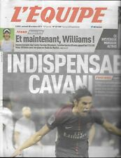 L'EQUIPE n°23108 28/10/2017  Cavani/ Venus Williams/ Tessa Worley/ Hamadache
