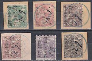 Ethiopia: 1911: Provisional issue for Dire Dawa Post office, VFU