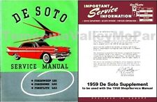 Factory Shop - Service Manual Set for 1958-1959 DeSoto