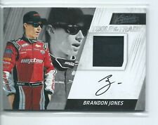 2017 Panini Absolute Firesuit Autograph Brandon Jones Auto Tools of the Trade