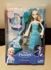 "~NEW IN BOX ~ Disney Frozen Ice Power Elsa Figure 12"" Doll Magical Lights Ice"