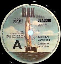 ADRIAN GURVITZ 45RPM RECORD CLASSIC 1982 WATCH VIDEO