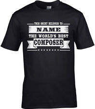 Composer Mens Personalised T-Shirt Gift Idea Music Musical Lyric Orchestra Funny