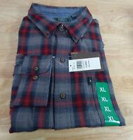 NWT Men's G. H. Bass Fireside Flannel Long Sleeved Cotton Blend Shirt-Variety