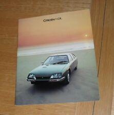 Citroen CX Brochure 1977 2000 2400 Super Pallas GTI Prestige Safari Familiale